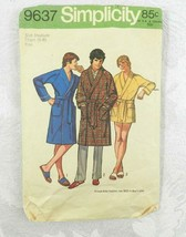 Vintage 1971 Simplicity Sewing Pattern 9637 Men's Robe Size M Chest 38-40 - $11.87