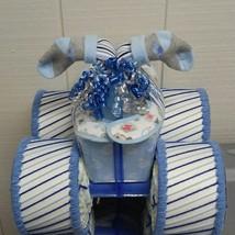 Royal Blue , Light Blue and Grey Theme Baby  Shower Four Wheeler Diaper ... - $75.00