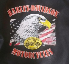 Harley Davidson Faux Leather Motorcycle Jacket Biker 3T Black Kids Patches - $39.59