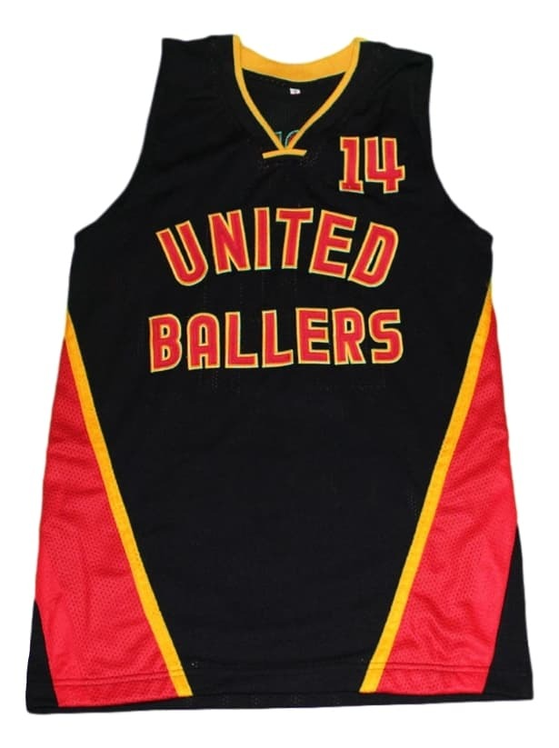 Dirk Nowitzki Dirty #14 United Ballers New Men Basketball Jersey Black Any Size