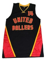 Dirk Nowitzki Dirty #14 United Ballers New Men Basketball Jersey Black Any Size image 1
