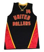 Dirk Nowitzki Dirty #14 United Ballers New Men Basketball Jersey Black A... - $44.99+