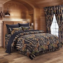 The Woods Camo Black 12 piece Comforter and Sheet Set and Curtains - $95.00