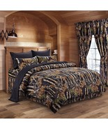 The Woods Camo Black 12 piece Comforter and Sheet Set and Curtains - $90.25