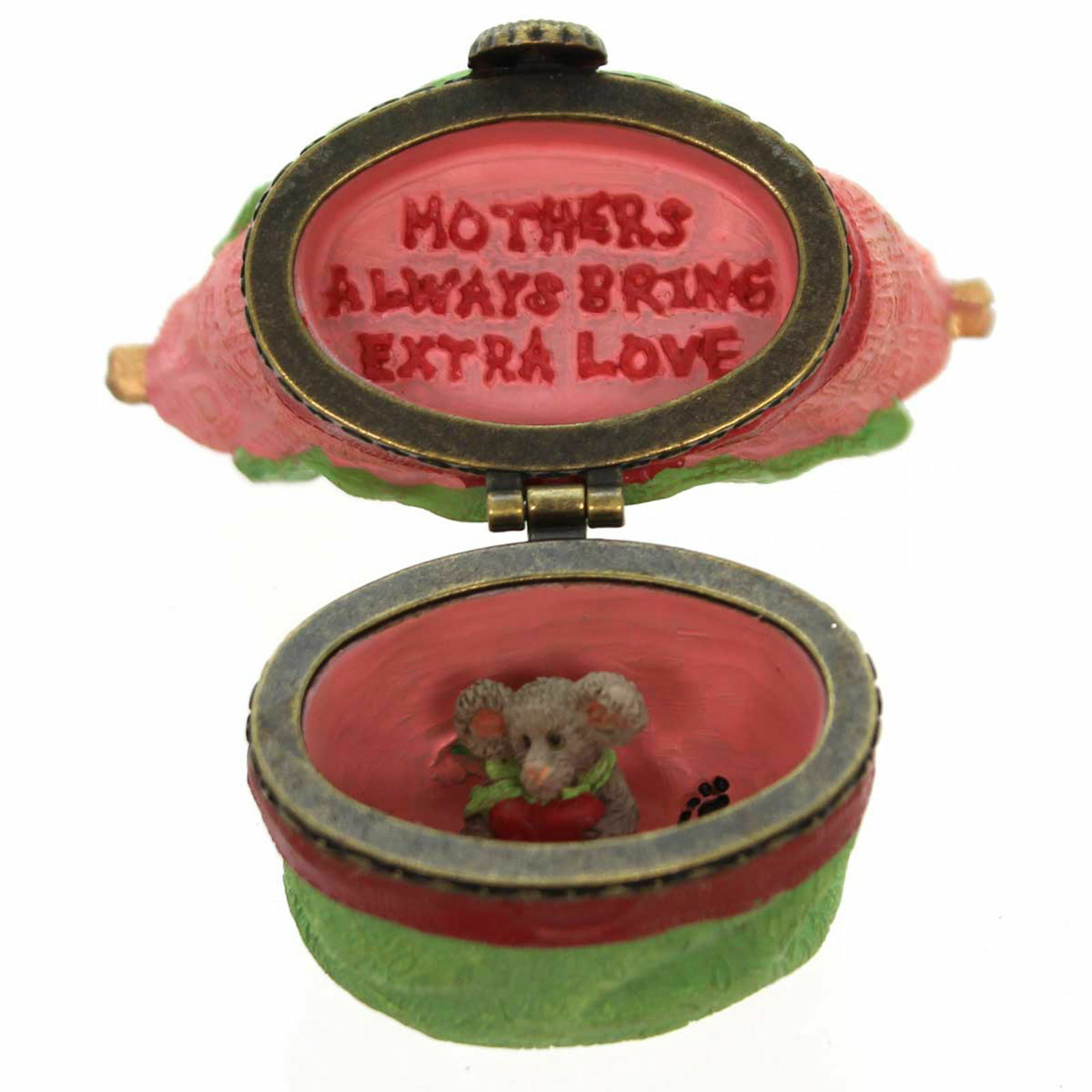 Boyds Bears Resin - Momma's Got It All Tote with Mabel McNibble Treasure Box image 2