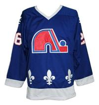 Any Name Number Quebec Retro Hockey Jersey Blue Stastny Any Size image 1