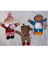 "3 Cabbage Patch Kids Sparkle Cuties HOLIDAY HELPERS 10"" AA Dolls Christm... - $54.44"