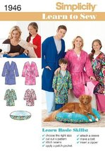 Simplicity Teens and Adults Robe Sewing Pattern 1946 Learn To Sew Childs, Size A - $13.48