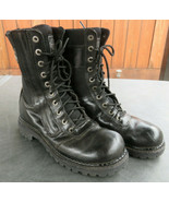 Harley Davidson 94124 Mens Black Motorcycle Riding Boots Leather 10.5 US... - $98.77