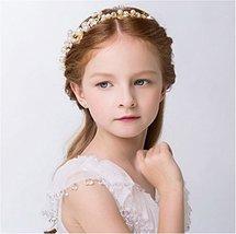 Elezay Princess Wedding Headpiece Crystal Headband Adjustable Ribbon Floral Crow image 4