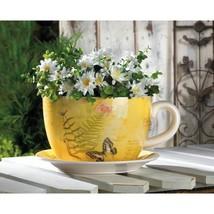 Large Garden Butterfly Teacup Planter - $36.00