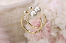 AUTHENTIC Christian Dior 2019 J'ADIOR Star Hoop Earrings Aged Gold image 6