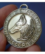 Vintage Collectibles USSR Soviet Russian Tag Medal Badge Service Dog She... - $9.99