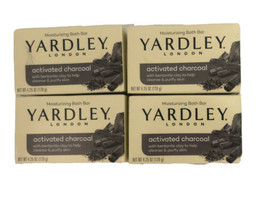 Yardley London Activated Charcoal Soap 4.25 oz per bar lot of 4 - $17.99