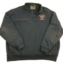 5.11 Tactical Job Shirt with Canvas 1/4 zip Navy 72321 Fire Chief XXL EM... - $42.08