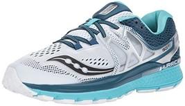 Saucony Women's Hurricane Iso 3 Running-Shoes, White Teal, 7 BM US - $96.51