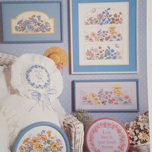 Meadow Flowers Counted Cross Stitch Pattern Leaflet Book 141 1988 Dimens... - $14.59