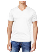 NEW CLUB ROOM TICHO V-NECK BRIGHT WHITE COTTON SHORT SLEEVE T SHIRT TEE XS - $8.90