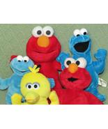 Sesame Street Mini Plush Cookie Monster Big Bird Elmo Plush & Bean BAg G... - $23.36
