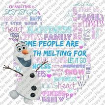 Frozens Olaf Words of Wisdom Mickey Mouse Head Disney Iron On Transfer I... - $3.95