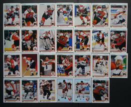 1990-91 Upper Deck UD Philadelphia Flyers Team Set of 27 Hockey Cards - $7.00