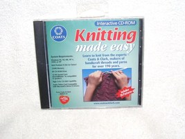 Knitting Made Easy Interactive CD-ROM For Pc New! 2002 - $7.96