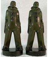 Max Le Verrier Art Deco Pierrot Figurines / Bookends 1930's original France - $1,295.00