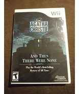 Agatha Christie: And Then There Were None (Nintendo Wii, 2008) Mystery R... - $49.39