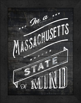 """In a Massachusetts State of Mind"" 12 x 16 Charcoal-Like Background Fram... - $39.95"