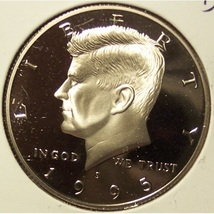 1995-S Deep Cameo Proof Kennedy Half Dollar #0920 - $12.79