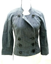 7 for All Mankind Style Women's Size Small Jacket Buttons 3/4 Sleeve Den... - $21.77