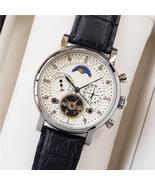 Tourbillon Mechanical Watches Men Luxury Fashion Brand Genuine Leather M... - €82,35 EUR