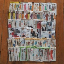 Vintage Lot of 50 Sewing Fabric Patterns Simplicity Vogue McCall's - $98.99