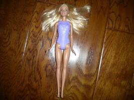 "Mattel 2016 Purple Bodice Blonde Hair Blue Eyes Princess Barbie Doll 12""  - $10.88"