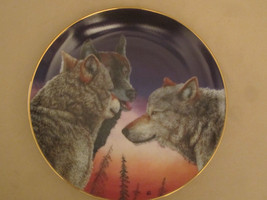 WOLF collector plate EVENING PATROL Eric Renk ETERNAL UNITY Danbury Mint... - $15.00