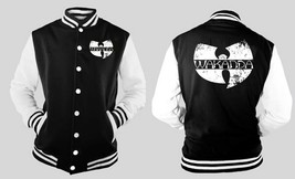 Black Panther Wakanda Varsity Baseball BLACK/WHITE Fleece Jacket - $32.66+