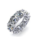 14.00CT Trillion White Diamond Eternity Engagement Her Band 925 Sterling Silver  - $122.95