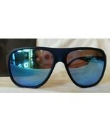 Women's AVIATOR Sunglasses Black Frame w/ Blue Reflective Mirrored Lens ... - $19.79