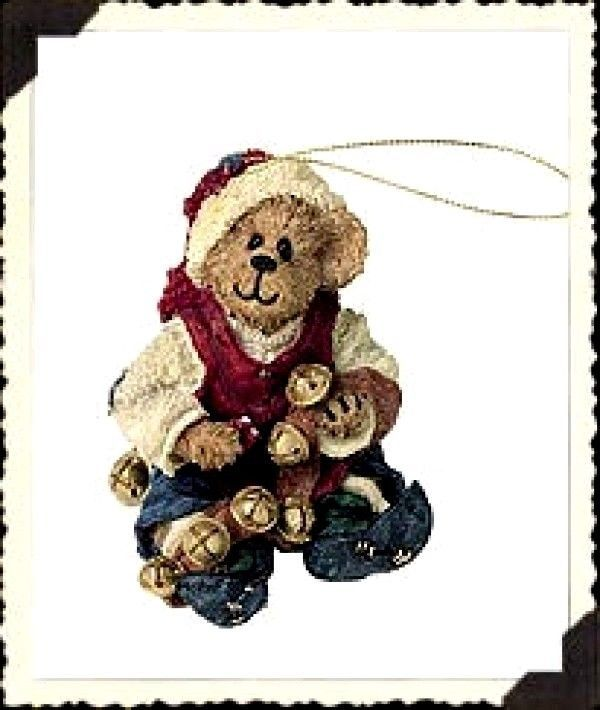 "Primary image for Boyds Bearstone Ornament- ""Jingles..Ring In The Cheer"" - #25733- 1E-New- Retired"