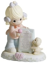 "Precious Moments, Birthday Gifts, ""Growing In Grace, Age 11"", Bisque Por... - $90.72"
