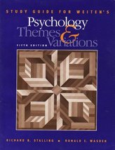 Psychology: Themes and Variations [Paperback] Stalling, Richard B.