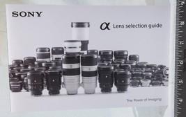 Sony Alpha Camera Lens Selection Guide Catalog 2017 g25 - $9.89