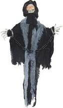 Reaper Prop Skeleton Animated Slashing Black Chains Skull Haunted House ... - $37.99