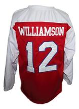 Zion Williamson Spartanburg Day School Hockey Jersey New Red Any Size image 5