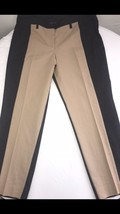 Women's Larry Levine Dress Pants Black & Tan Inseam 28 Khaki Casual Dress 16 - $15.79