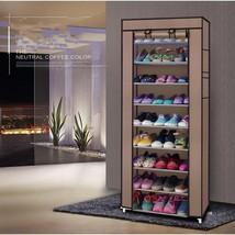 Portable 10 Layer 9 Grid Shoe Rack Shelf Storag... - $15.88
