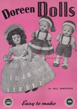 Dolls, Doreen Crochet Doll Clothes Pattern Booklet 102 Published 1951 - $5.95