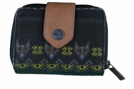 Bench Womens Black Lovelock Bramhall Card Wallet Coin Purse Aztec Dogs NWT