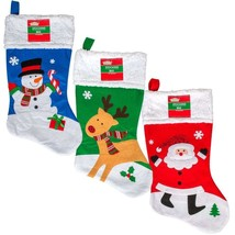 Christmas House Whimsical Character Stockings with Fleece Cuffs, 18 in. - $5.99