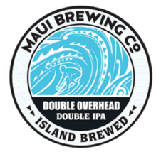 Maui Brewing Co. Circular Tin Beer Sign - Double Overhead Double IPA Lig... - $34.64